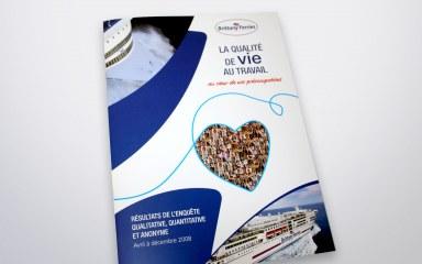 Couverture du rapport sur les résultats d'une enquête pour Brittany Ferries