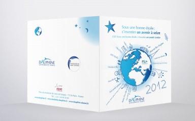 Universite Paris Dauphine couverture de la carte de vœux
