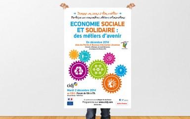 CIDJ - Affiche sur les Metiers Economie Sociale Solidair